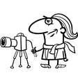photographer cartoon coloring page vector image vector image
