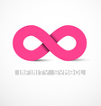 Pink Infinity Symbol vector image vector image