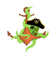 pirate octopus and anchor filibuster devilfish vector image vector image