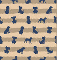 seamless template with different breeds dogs vector image