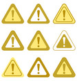 set of exclamation signs vector image vector image