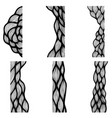 set of hand drawn curly wavy doodle design vector image vector image