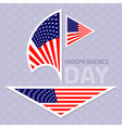 Set of stylish american flags Independence day des vector image vector image