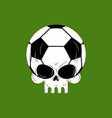 skull soccer ball football skeleton head emblem vector image vector image