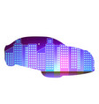 sport car in front of night city urban vector image vector image