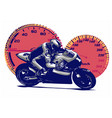 sport superbike motorcycle vector image vector image