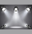 spotlights with bright lights vector image