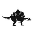 stegosaurus dinosaur icon simple style vector image vector image