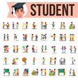 student set lifestyle situations spending vector image vector image
