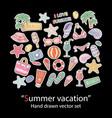 summer setscrapbookfashion patch badges vector image