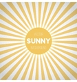 Sunburst EPS10 Background Sunny Stripes vector image