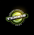 tennis modern professional sport typography vector image vector image