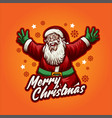 traditional classic santa claus merry christmas vector image