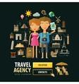 travel agency logo design template vector image vector image