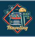 traveling surfing print vector image vector image