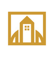 urban city tower house simple graphic vector image