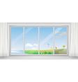 window in different seasons vector image vector image