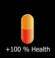 antibiotic tablet orange-red drug for the vector image