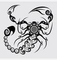 Decorative scorpion vector image