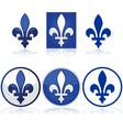 Quebec fleur-de-lys vector image