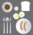Breakfast Icon Set vector image