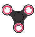 hand spinner toys hand fidget spinner flat on vector image