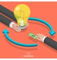 Investing into innovation flat isometric concept vector image