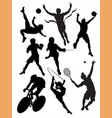action packed sports vector image vector image