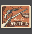 american western ammo guns and rifles shop vector image vector image