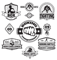 Boxing emblems set vector image vector image