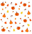brigh simple cartoon pattern with pumpkins vector image vector image