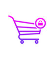 buy cart lock secure shop store icon vector image vector image