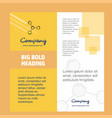 chemical bonding company brochure title page vector image