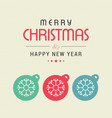 chrismtas card with snow balls vector image