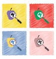 collection of flat shading style icons laboratory vector image vector image