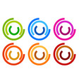 colorful circle logo icon templates concentric vector image