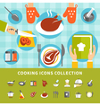 Cooking Elements Set vector image vector image