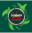 creative summer sale fresh tropical leaves frame vector image vector image