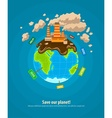 Ecology concept world planet vector image