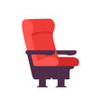 empty red comfortable chair cinema movie theater vector image