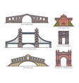 european architecture arc set arch bridges gate vector image vector image