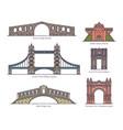 european architecture arc set arch bridges gate vector image