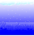 Festive background with inscription and snow vector image vector image