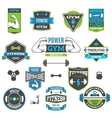 Fitness And Sport Labels vector image vector image