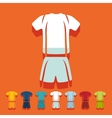 Flat design Football clothing vector image