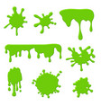 green slime goo spooky dripping liquid blots and vector image