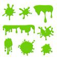 green slime goo spooky dripping liquid blots vector image vector image