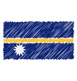 hand drawn national flag of nauru isolated on a vector image vector image