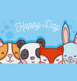 happy day card vector image vector image
