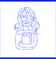 icon and logo people character avatars vector image vector image
